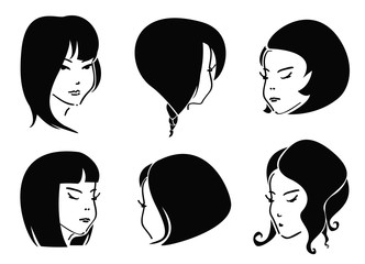 Set of Black Hair Styles
