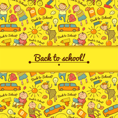 Vector cheerful background with children