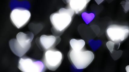 Love bokeh flashlight reflection