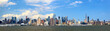 Manhattan skyline panorama over Hudson River