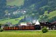 Leinwandbild Motiv Zillertalbahn in den Alpen - Österreich