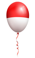monaco flag balloon