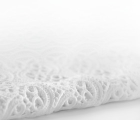 Smooth elegant white lace background.