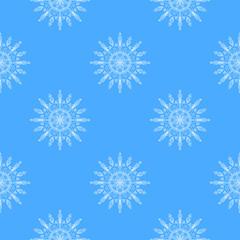 Beautiful vector snowflakes seamless pattern