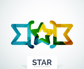 Abstract colorful logo design