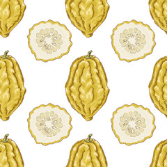 Seamless pattern with citron