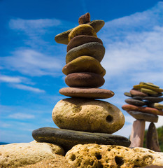Sustainable Growth Stone Tower