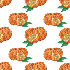 Seamless pattern with  Bitter Orange