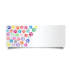 Colorful cat footprint card