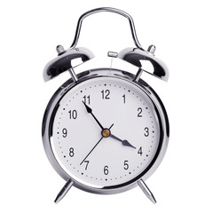 Five minutes to four on an alarm clock