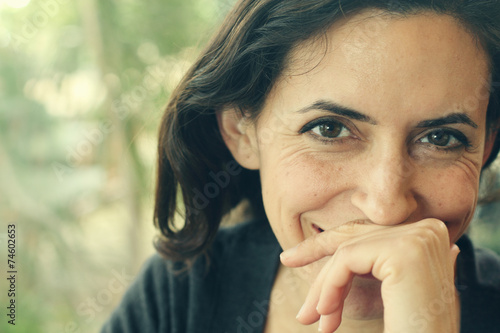 Portrait of beautiful 35 years old woman - 74602653