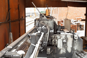 reinforcing steel and cutting and bender machine