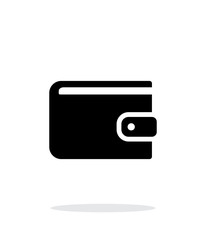 Wallet icon on white background.