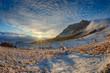 canvas print picture - Winter landscape.