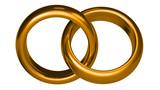Fototapety goldene Hochzeitsringe