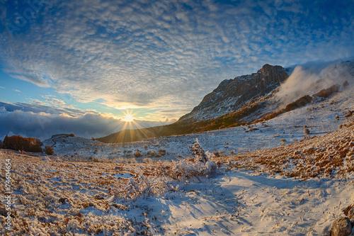 canvas print picture Winter landscape.