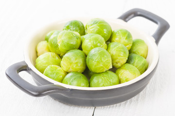 Brussels Sprouts - Cooked brussels sprouts.