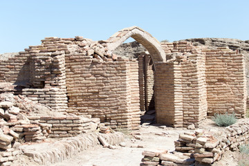 the ruins of the ancient city Sauran, Kazakhstan.