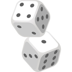 Vector Illustration of Dice