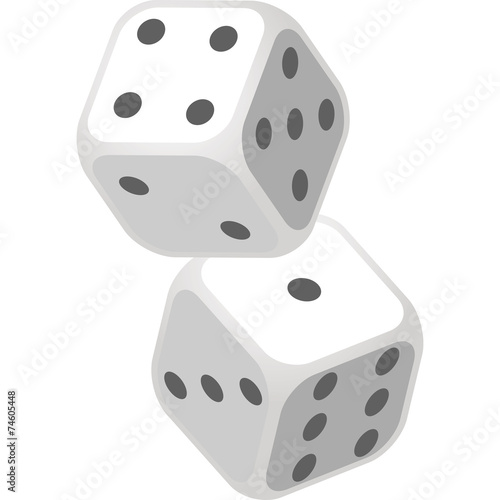Vector Illustration of Dice - 74605448