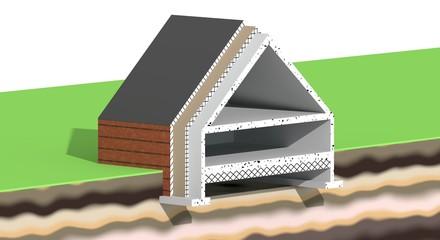 Vloer dak en spouw isolatie