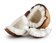 "Постер, картина, фотообои ""Broken raw ripe coconut"""