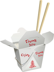 Chinese Take-Out with Chop Sticks