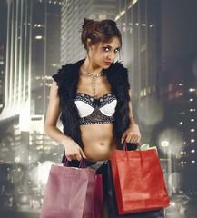 City stylish shopping