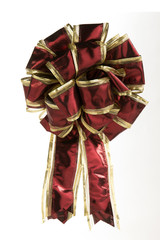 Red and Gold Christmas Bow