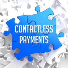 Contactless Payments on Blue Puzzle.