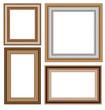 Set of four wooden frameworks