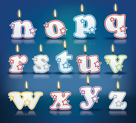 Candle letters from n to z