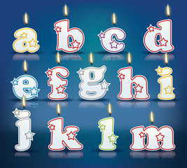 Candle letters from a to m