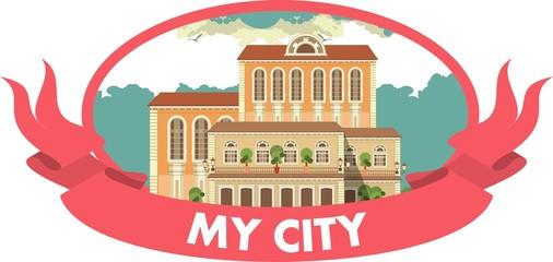my city label