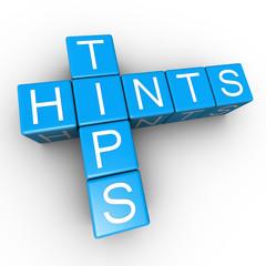Tips Hints Text