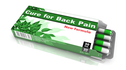 Cure For Back Pain, Green Open Blister Pack.