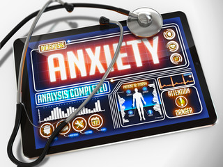 Anxiety on the Display of Medical Tablet.