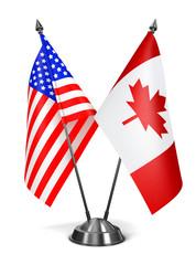 USA and Canada - Miniature Flags.