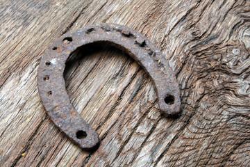 Hufeisen, Glück, Eisen, Holz, alt, Huf, Symbol, Glückssymbol