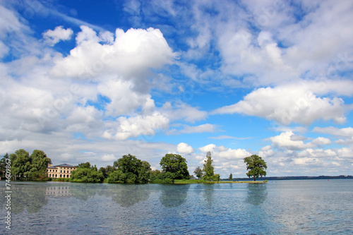 canvas print picture Schwerin lake, Germany