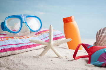 beach equipment, summer vacation