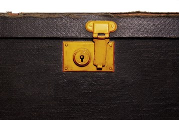 Lock on old suitcase