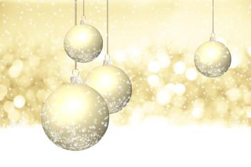 Glitzerndes Funkeln und Eiskristalle auf weihnachtlichem Gold