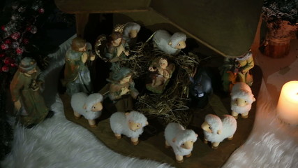 nativity Scene - tracking shot