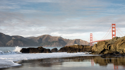 San Francisco Golden Gate Bridge from Baker Beach