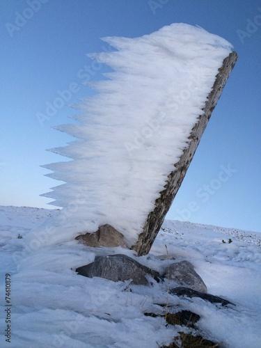 canvas print picture Winter: Eiszeit - Wandern