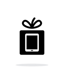 Gift Tablet PC icon on white background.