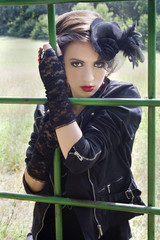 Girl in gothic outfit