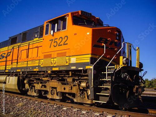 Engine of BNSF Freight Train Locomotive No. 7522 - 74612646