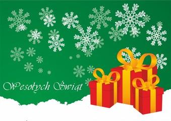 Tapeta Boże Narodzenie z prezentami